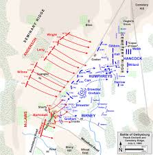 Battle Of New Orleans Map by Battle Of Gettysburg The Peach Orchard