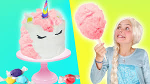 how to make cotton candy rainbow taffy cake chef frozen