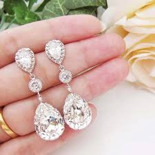 beautiful ear rings win a pair of beautiful bridal earrings by earrings nation