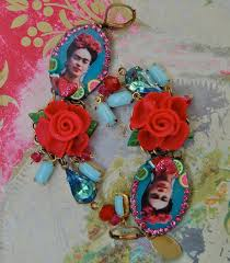 frida earrings liz blair s design and fashion frida kahlo stuff on etsy