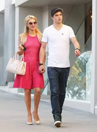 lexus on robertson in beverly hills paris hilton in pink dress with boyfriend river viiperi before