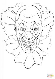 color by number clown coloring page for kids education pages