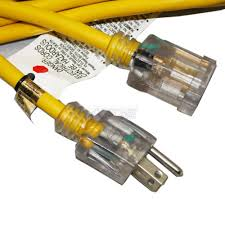15 ft 14 awg indoor outdoor yellow jacket extension cord with