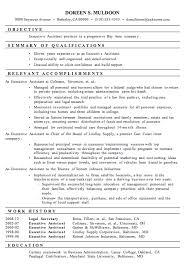 Resume Format For Executive Executive Assistant Resume Samples Berathen Com