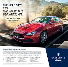 maserati ghibli red 2015 2015 maserati ghibli special finance offer maserati of ontario