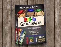 cheapest graduation invitations pre k graduation invitation prek announcement pre k
