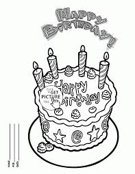happy birthday cake card friends coloring kids