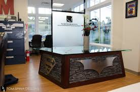 Custom Reception Desk by Superhero Desk Themed Reception At Oral Surgeon Office Tom