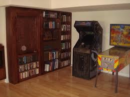 hidden door bookcase hall traditional with art bookcase bookshelf