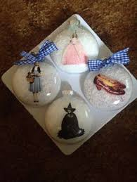 my handmade wizard of oz ornaments the wizard of oz