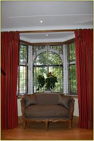 bow window curtains home design ideas bay blinds shades home