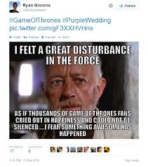 Purple Wedding Meme - game of thrones disturbance game of thrones know your meme