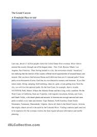 2nd Reading Comprehension Worksheets Grand Canyon A Reading Comprehension Worksheet Reading