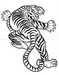 tiger drawing pictures how to draw a japanese tiger tattoo step
