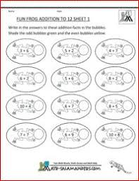 fun fish addition to 12 sheet 1 a fun addition math worksheet