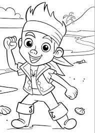free jake neverland pirates coloring pages print az