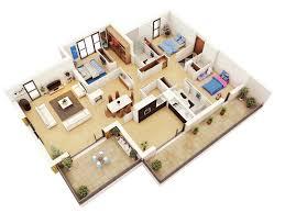 Free House Design Denah Rumah 3 Kamar Terbaru 3d 3dimensi Desain Rumah Minimalist