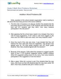 grade 3 addition word problem worksheets k5 learning