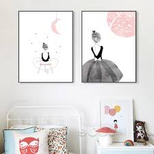 aliexpress com buy watercolor girls canvas art print painting aliexpress com buy watercolor girls canvas art print painting poster wall pictures for home decoration wall art decor cm022m from reliable painting