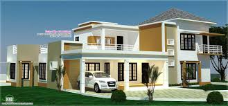 floor plan 3d views and interiors of 4 bedroom villa kerala 4 bhk villa right side elevation 4 bhk villa left side elevation