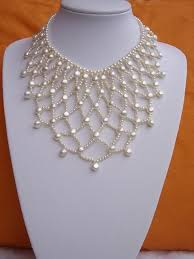 ok not simple but beautiful bridal pearl necklace lois