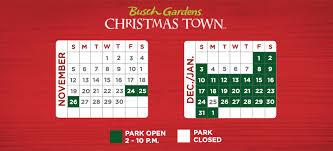 Busch Gardens Williamsburg Fall Fun Card - 2017 event calendar christmas town busch gardens williamsburg