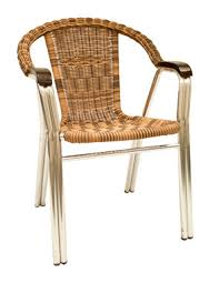 Patio Chair Asf Al 32 Aluminum And Wicker Patio Chair