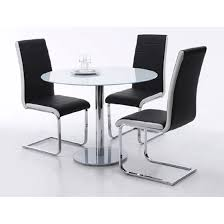 round table with chairs for sale falko round glass dining table with 4 top dining chairs in black