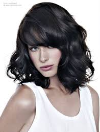 long bob with curls that you can ruffle with your fingers