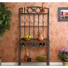 Metal Bakers Rack With Wine Storage Baker U0027s Rack At Rife U0027s Tv Furniture U0026 Appliance