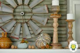 Rustic Mantel Decor Rustic Fall Mantel Dandelion Patina