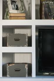 diy plywood storage box for an open shelving storage solution