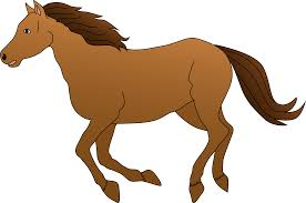 mustang horse running brown horse galloping clipart free clip art