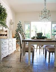 French Country Rustic Elegant Christmas Dining Room Shabbyfufu - French country dining room