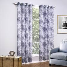 grey curtains printed floral window curtains living room european