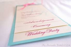 cardstock for wedding programs diy wedding revisited programs the domestic domicile