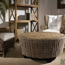 round wicker ottoman coffee table foter