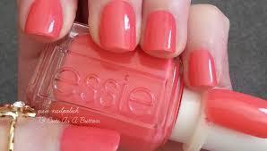 essie cute as a button persimmon pink nail polish u0026 nail color