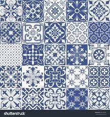 big vector set tiles background wallpaper stock vector 489708325