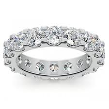 eternity wedding bands 4 00 ct cut diamond eternity wedding band
