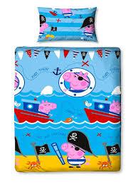 peppa pig george roar single duvet cover set polyester 12 55 free