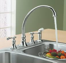 kohler revival kitchen faucet kohler k 16109 4a cp revival kitchen sink faucet polished chrome