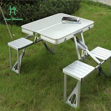 aluminum portable picnic table outdoor aluminum alloy table folding table and chair set portable