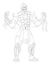free mortal kombat coloring pages for kids coloringstar