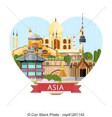 travel asia images Asia travel banner with famous attractions asia travel banner jpg