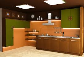 Modular Kitchen Design For Small Kitchen Modular Kitchen For Small Spaces With White Floor And Brown