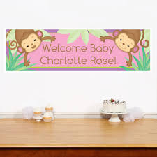 baby shower monkey monkey girl baby shower decorations