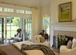 new york sliding french doors bedroom farmhouse with bright twin