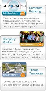 corporate gift card bed and breakfast gift certificates and cards corporate programs