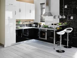 decoration cuisine noir et blanc cuisine noir bois finest gallery of cuisine ma photo blanc et